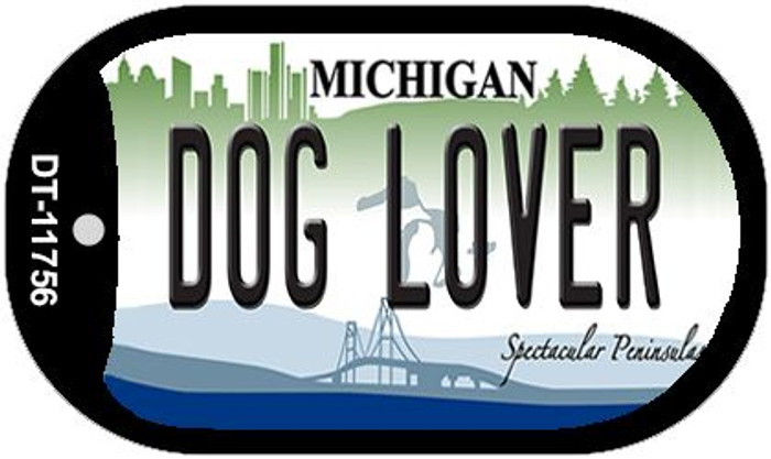 Michigan Dog Lover Wholesale Novelty Metal Dog Tag Necklace DT-11756