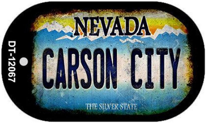 Nevada Carson City Wholesale Novelty Metal Dog Tag Necklace DT-12067