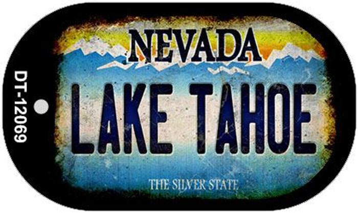 Nevada Lake Tahoe Wholesale Novelty Metal Dog Tag Necklace DT-12069