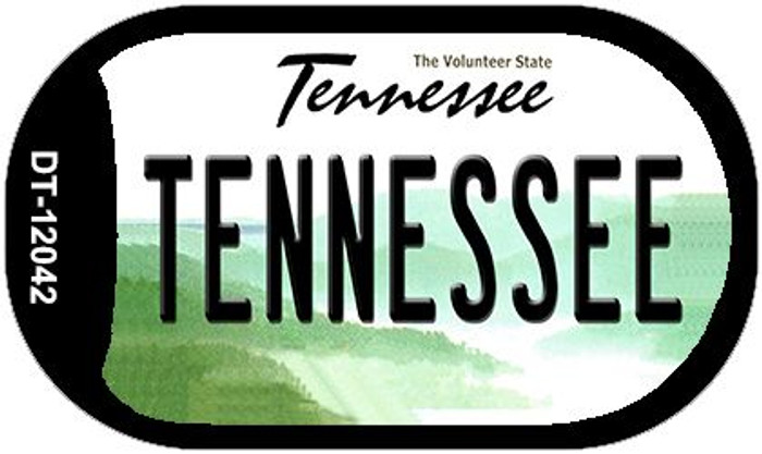 Tennessee Wholesale Novelty Metal Dog Tag Necklace DT-12042