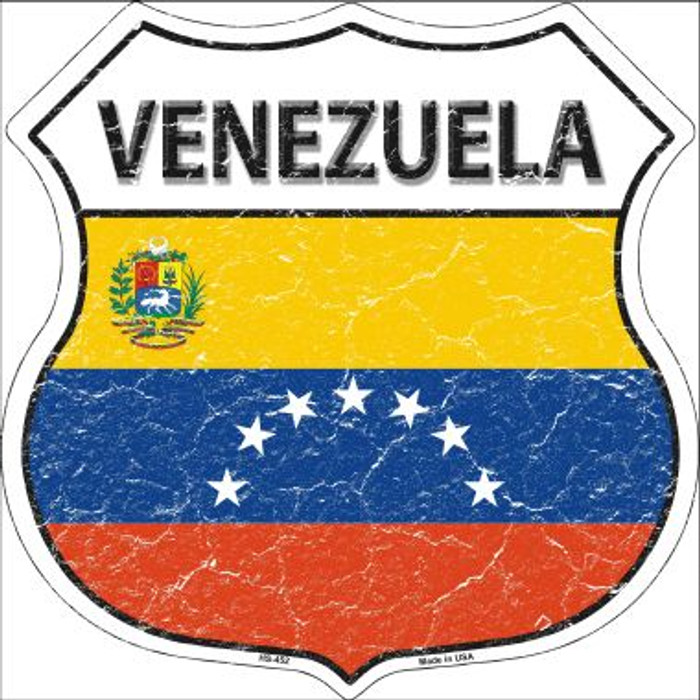 Venezuela Country Flag Highway Shield Wholesale Metal Sign