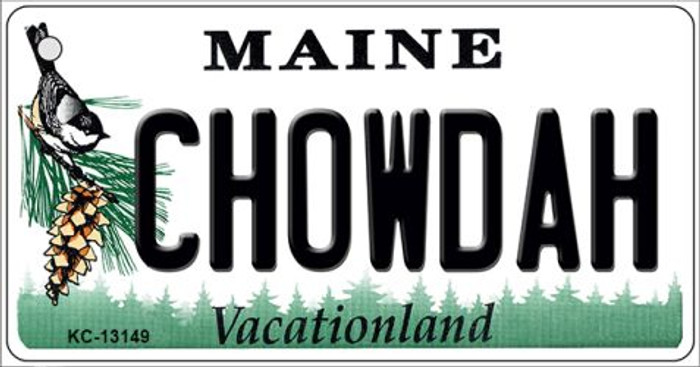 Chowdah Maine Wholesale Novelty Metal Key Chain KC-13149
