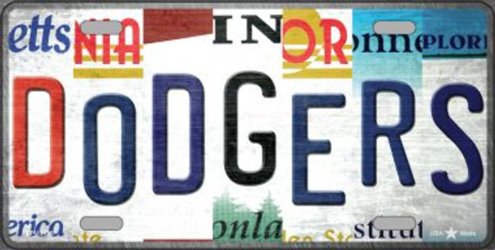 Dodgers Strip Art Wholesale Novelty Metal License Plate Tag LP-13196