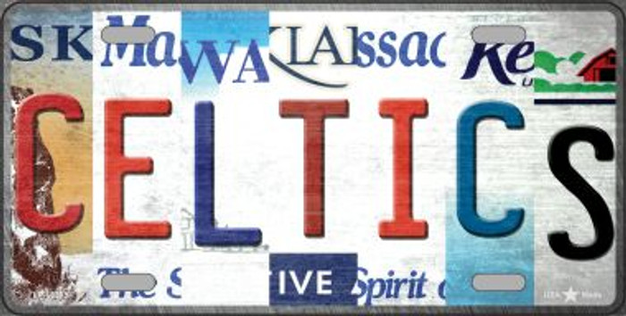Celtics Strip Art Wholesale Novelty Metal License Plate Tag LP-13213