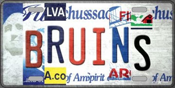 Bruins Strip Art Wholesale Novelty Metal License Plate Tag LP-13241