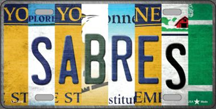 Sabres Strip Art Wholesale Novelty Metal License Plate Tag LP-13242