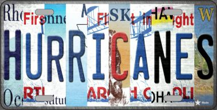 Hurricanes Strip Art Wholesale Novelty Metal License Plate Tag LP-13243