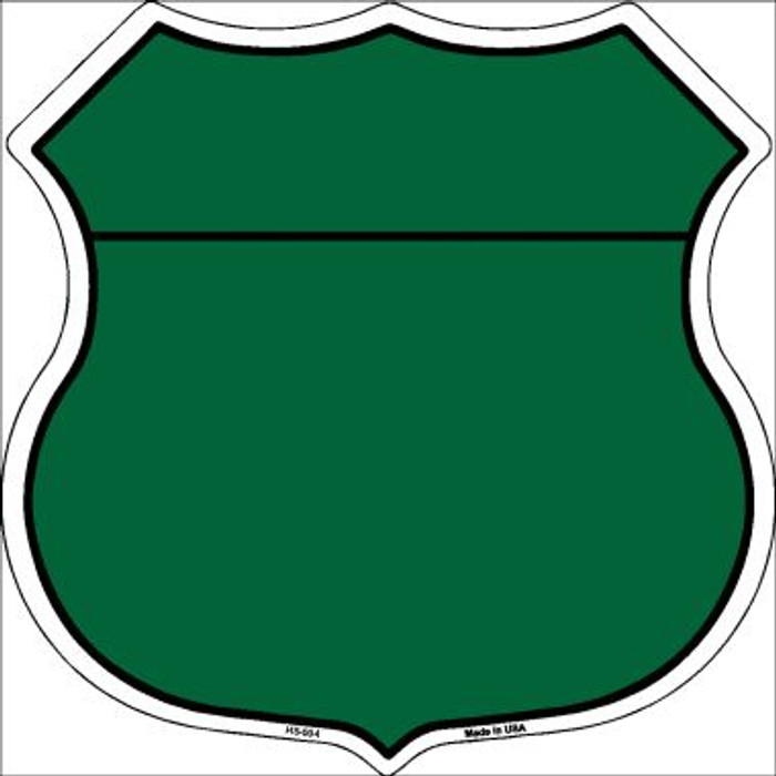 Green|Black Plain Highway Shield Wholesale Metal Sign HS-004