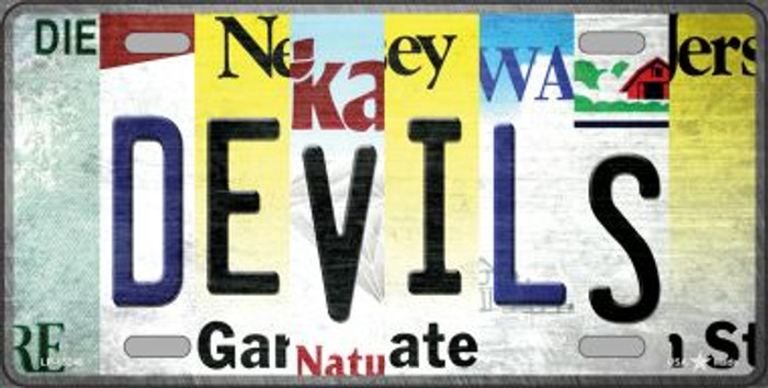 Devils Strip Art Wholesale Novelty Metal License Plate Tag LP-13246