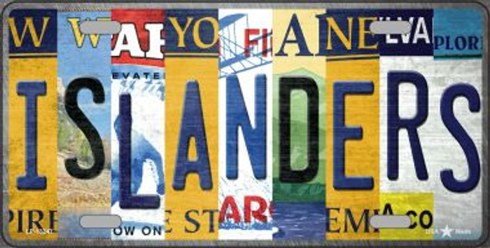 Islanders Strip Art Wholesale Novelty Metal License Plate Tag LP-13247