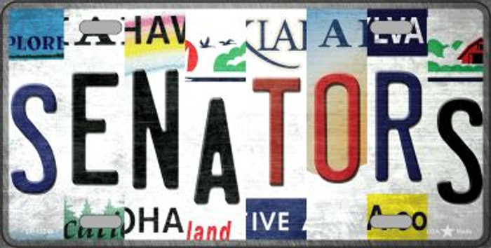 Senators Strip Art Wholesale Novelty Metal License Plate Tag LP-13249