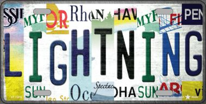 Lightning Strip Art Wholesale Novelty Metal License Plate Tag LP-13252