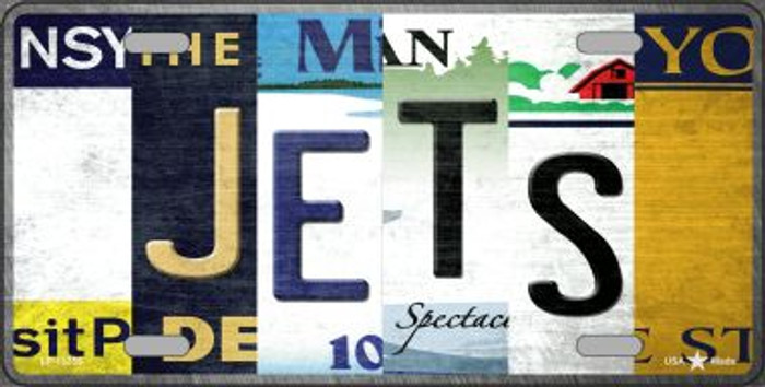 Jets Strip Art Wholesale Novelty Metal License Plate Tag LP-13255