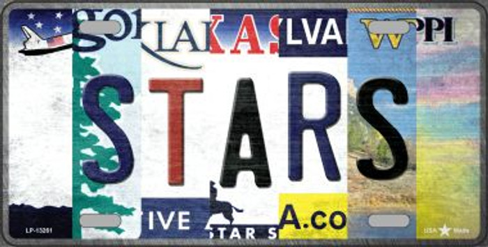 Stars Strip Art Wholesale Novelty Metal License Plate Tag LP-13261