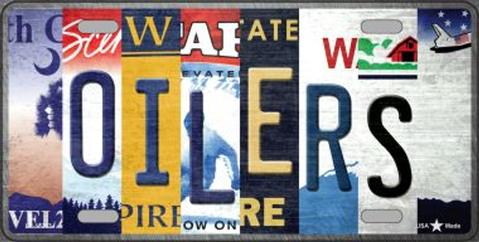 Oilers Strip Art Wholesale Novelty Metal License Plate Tag LP-13263