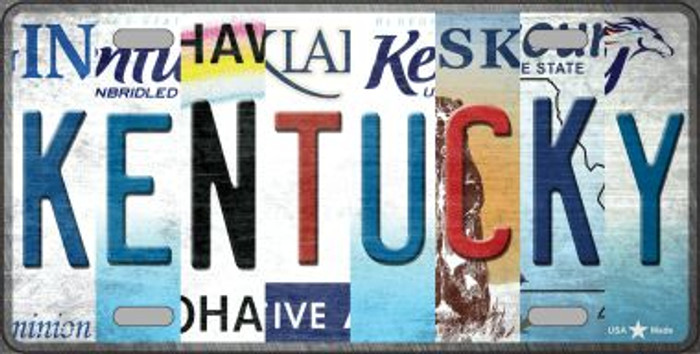 Kentucky Strip Art Wholesale Novelty Metal License Plate Tag LP-13282