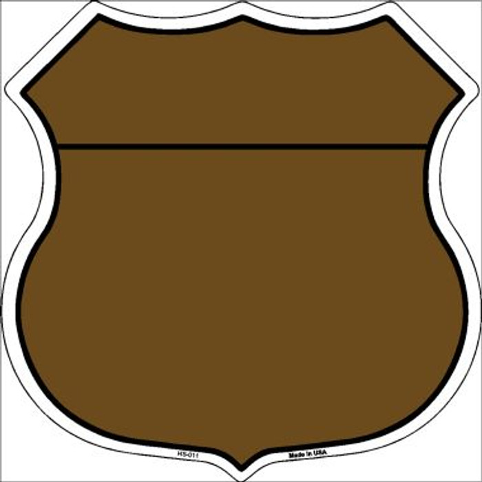 Brown|Black Plain Highway Shield Wholesale Metal Sign HS-011