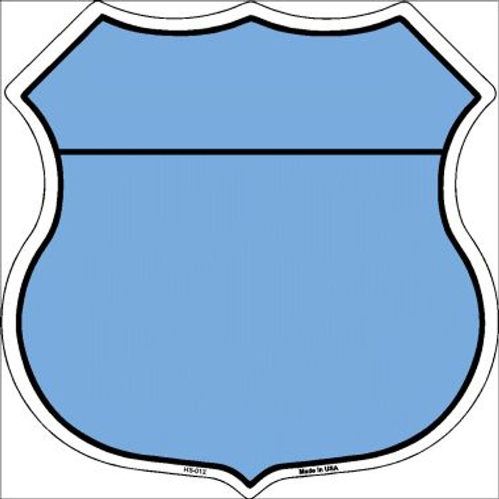 Light Blue|Black Plain Highway Shield Wholesale Metal Sign HS-012