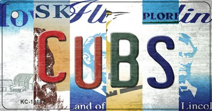 Cubs Strip Art Wholesale Novelty Metal Key Chain KC-13187