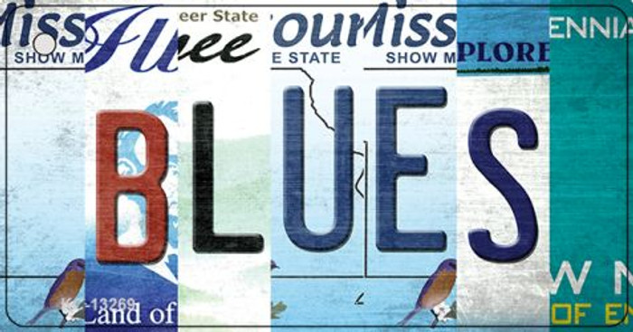 Blues Strip Art Wholesale Novelty Metal Key Chain KC-13269