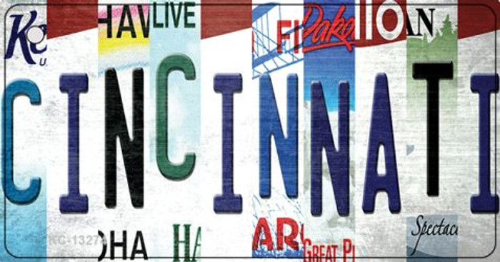 Cincinnati Strip Art Wholesale Novelty Metal Key Chain KC-13274