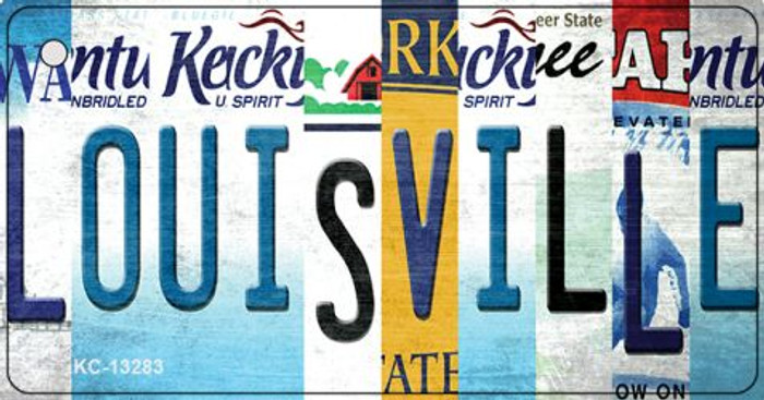 Louisville Strip Art Wholesale Novelty Metal Key Chain KC-13283