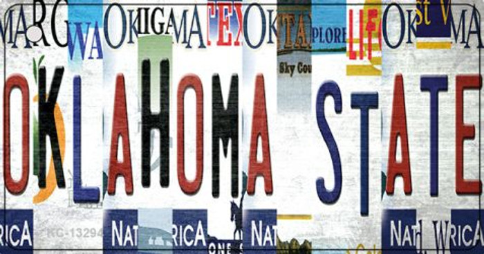 Oklahoma State Strip Art Wholesale Novelty Metal Key Chain KC-13294