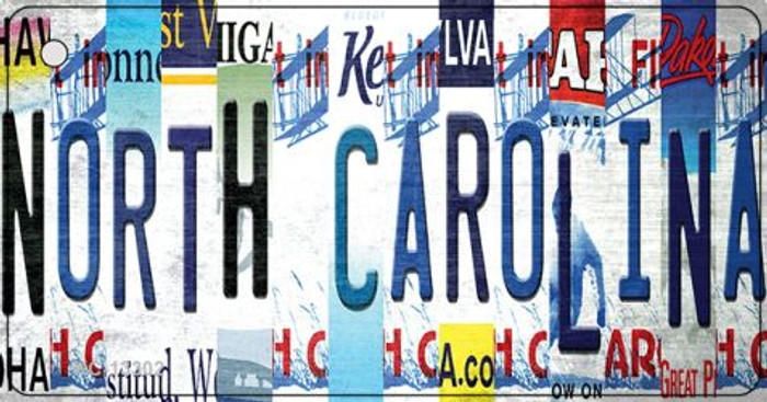 North Carolina Strip Art Wholesale Novelty Metal Key Chain KC-13302