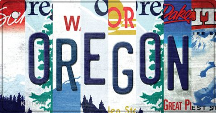 Oregon Strip Art Wholesale Novelty Metal Key Chain KC-13310