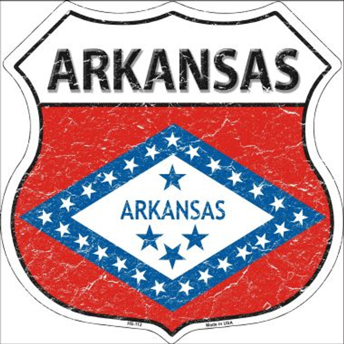 Arkansas State Flag Highway Shield Wholesale Metal Sign