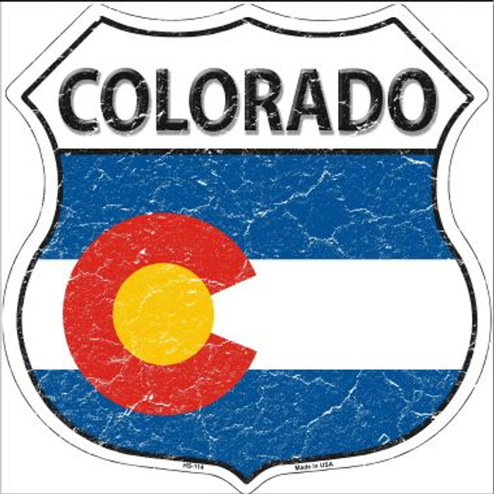 Colorado State Flag Highway Shield Wholesale Metal Sign
