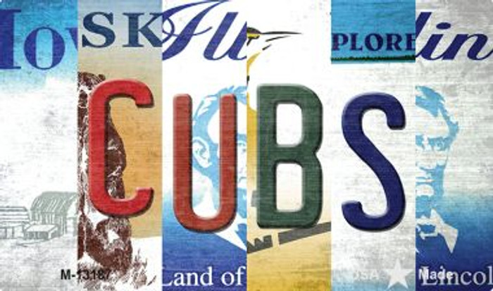 Cubs Strip Art Wholesale Novelty Metal Magnet M-13187