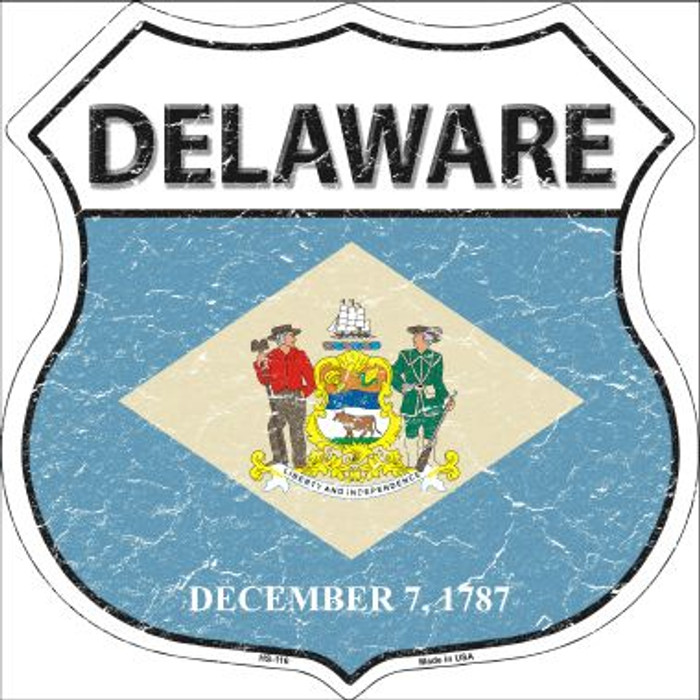 Delaware State Flag Highway Shield Wholesale Metal Sign