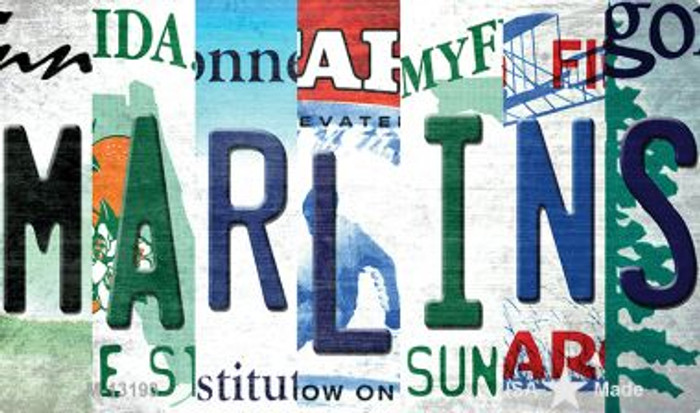 Marlins Strip Art Wholesale Novelty Metal Magnet M-13193