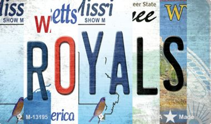 Royals Strip Art Wholesale Novelty Metal Magnet M-13195