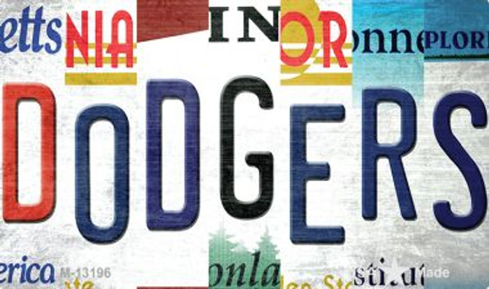 Dodgers Strip Art Wholesale Novelty Metal Magnet M-13196
