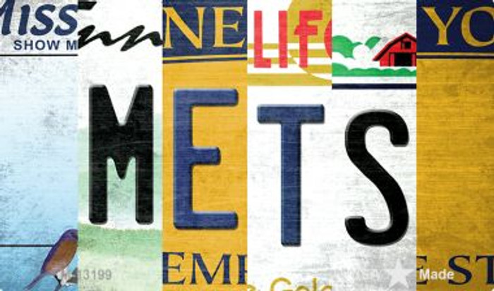 Mets Strip Art Wholesale Novelty Metal Magnet M-13199