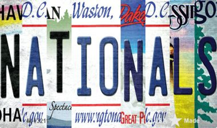 Nationals Strip Art Wholesale Novelty Metal Magnet M-13211