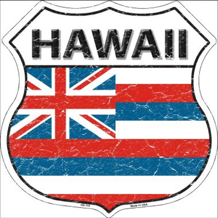 Hawaii State Flag Highway Shield Wholesale Metal Sign