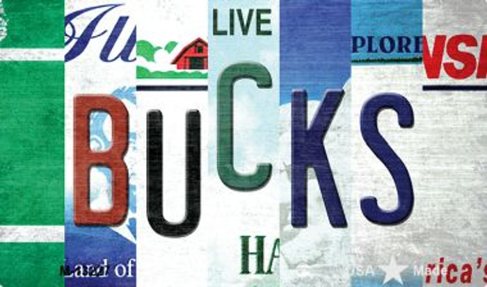 Bucks Strip Art Wholesale Novelty Metal Magnet M-13227