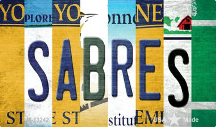 Sabres Strip Art Wholesale Novelty Metal Magnet M-13242