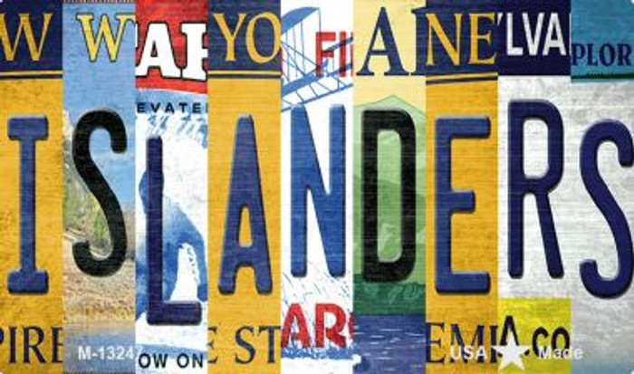 Islanders Strip Art Wholesale Novelty Metal Magnet M-13247