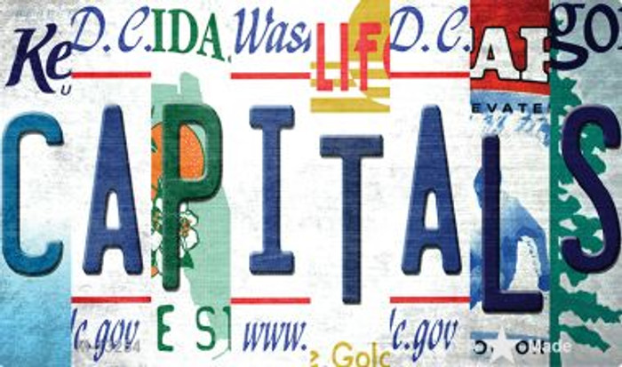 Capitals Strip Art Wholesale Novelty Metal Magnet M-13254