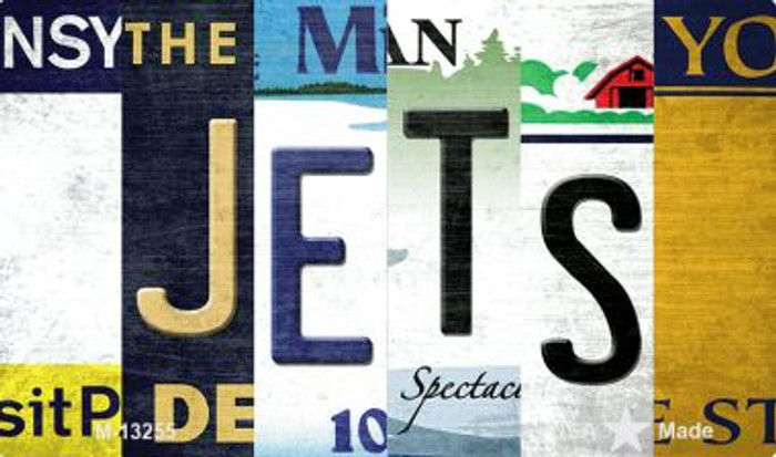Jets Strip Art Wholesale Novelty Metal Magnet M-13255