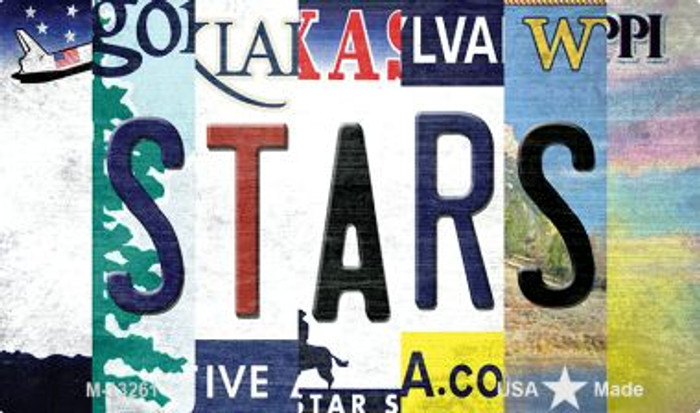 Stars Strip Art Wholesale Novelty Metal Magnet M-13261