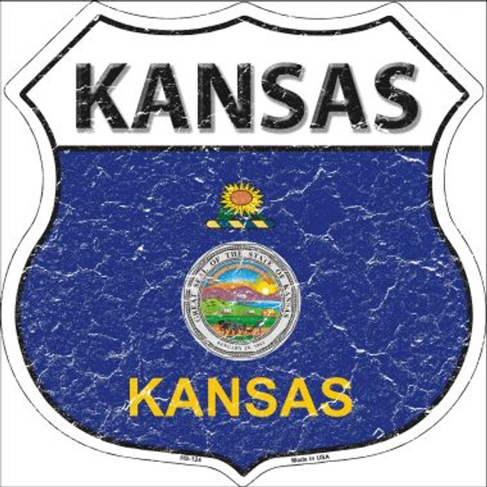 Kansas State Flag Highway Shield Wholesale Metal Sign