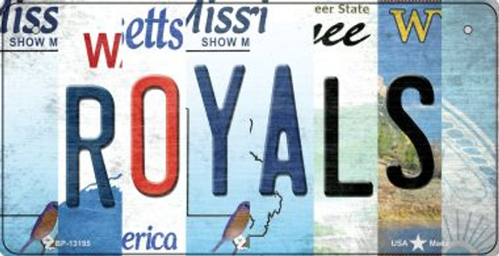 Royals Strip Art Wholesale Novelty Metal Bicycle Plate BP-13195