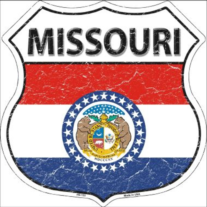 Missouri State Flag Highway Shield Wholesale Metal Sign