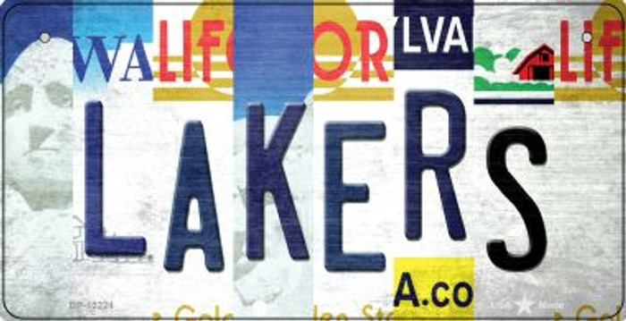 Lakers Strip Art Wholesale Novelty Metal Bicycle Plate BP-13224