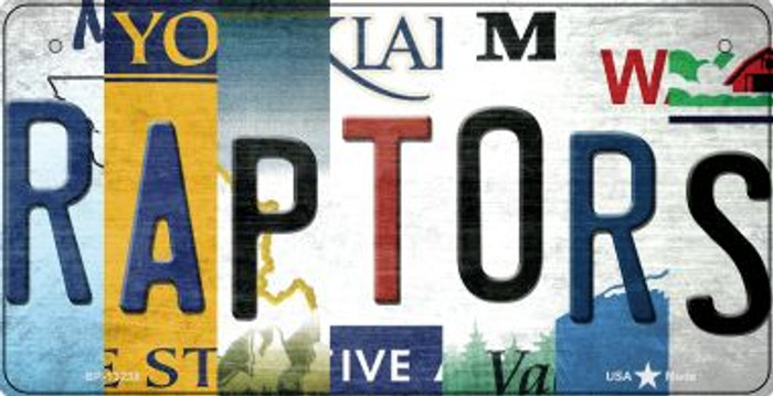Raptors Strip Art Wholesale Novelty Metal Bicycle Plate BP-13238